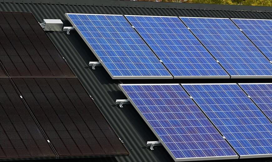 solar panels and poly panels